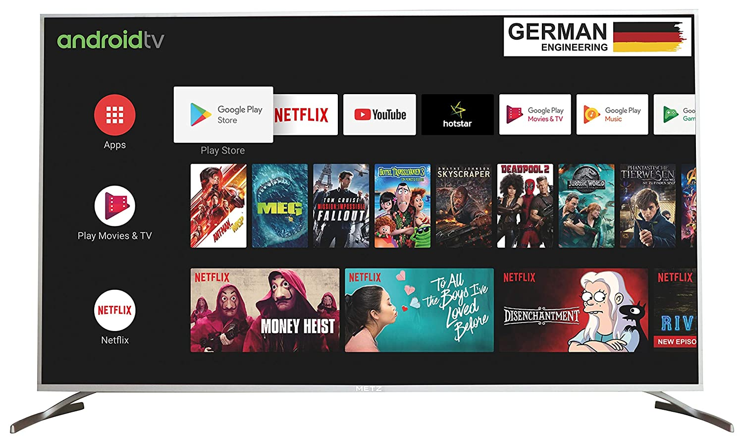 METZ 138 cm (55 inches) 4K Ultra HD Certified Android Smart LED TV M55G2